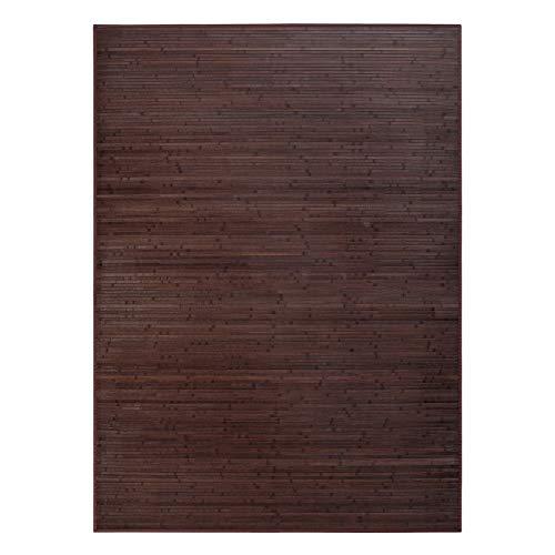 Alfombra de salón de bambú marrón Industrial de 250x180 cm - LOLAhome