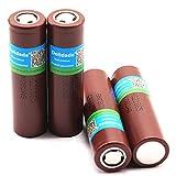 Batería 18650 3000 Mah 3.7 V Batería Recargable para batería de Litio 18650 3000 Mah-6Pcs Batería 18650 Timbre Recargable Baterías Recargables para Luces solares
