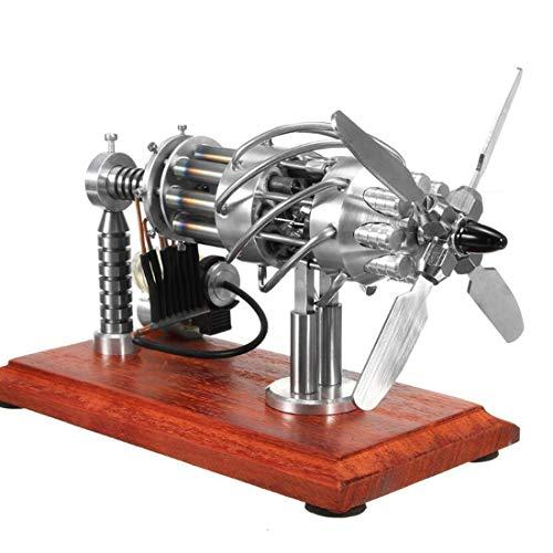 H0_V Motore Stirling,16 Cilindri Motore a Vapore Motore Stirling ad Aria Calda