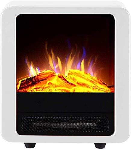 WI Elektroherd 900 / 1800W Elektrischer Kamin Elektrische Heizung Virtuelle Flamme Überhitzungsschutz Geräuscharm Große Flächenheizung, Rot,Weiß
