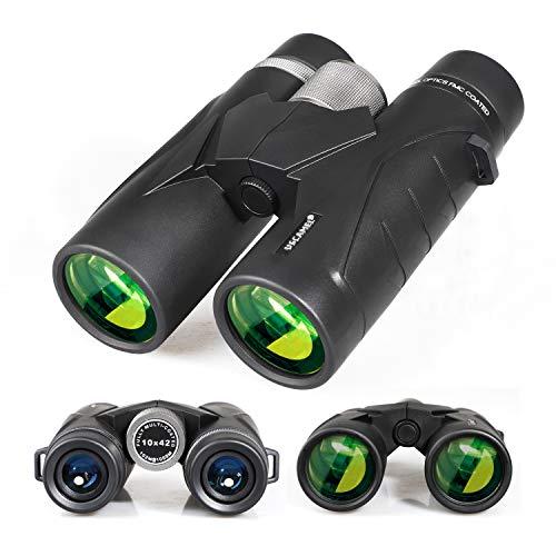 Binoculares 8x42 para Adultos, prismáticos Profesionales HD compactos para observación de Aves, Viajes, observación de Estrellas, Camping, conciertos, visitas turísticas