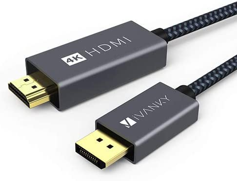 4k 60Hz DisplayPort to HDMI Cable 6 6ft iVANKY Uni Directional DP to HDMI Male to Male Cable product image