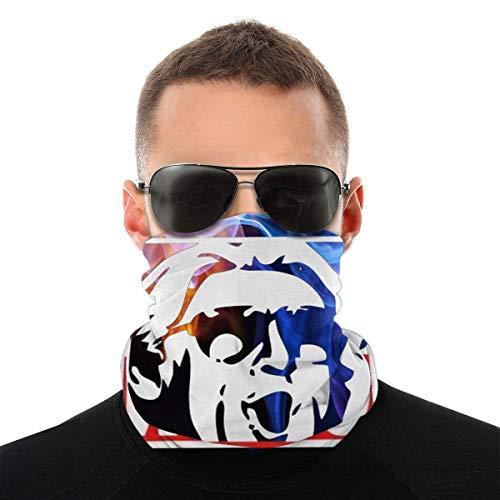 Emonye Wooo-Wrestling Nature Boy RIC Flair Windproof Bandana Face Mask Neck Gaiter Scarf Dust Wind Balaclava Headwear for Sun Dust UV White