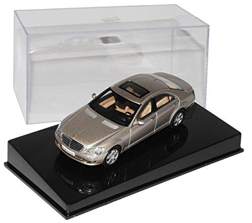 AUTOart Mercedes-Benz S-Klasse Cubanit Grau Silber W221 2005-2013 56201 1/43 Modell Auto