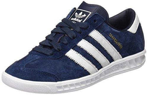 adidas Herren Hamburg Low-Top, Blau (Collegiate Navy/FTWR White/Gold Met), 36 2/3 EU