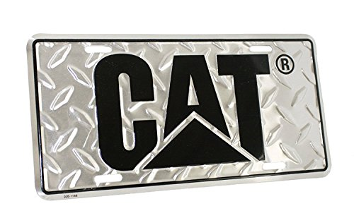 MPC Caterpillar CAT Equipment Aluminum Diamond Plate Novelty License Plate