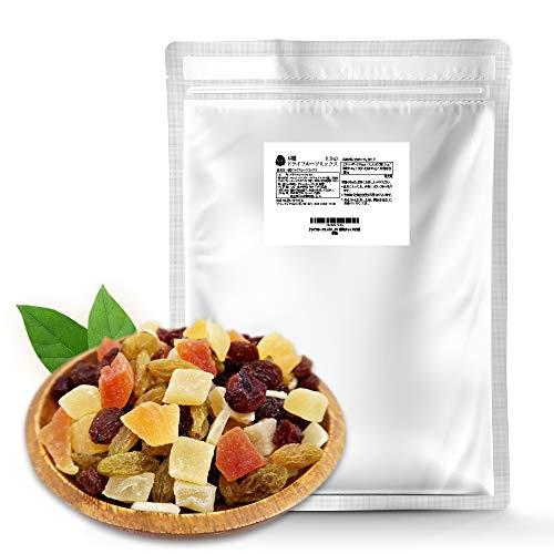ドライフルーツミックス 6種ミックス1.2kg (1kg+追加200g) 通常の20%増量! 期間限定超お得セール!(マンゴー パパイヤ パイナップル クランベリー レーズン グリーンレーズン)便利なチャック付き袋