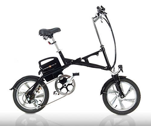 Cross Fold fe16NERO–Pedelec, numerosi Test Sieger, Mofa, anche come e Bike Ruota, e pieghevole con maniglia a gas, come 20km/H e 25km/H Versione, cambio Shimano, cerchi in alluminio, 15AH batteria Panasonic, portata fino a 80km, City Bike