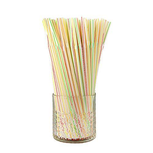 YUEKUN Einweg Plastik Strohhalme,200 Knickbare Trinkhalme BPA-Free, Flexibel, Kunststoff, Mehrfarbig, Biegsam,Lebensmittelecht,für Party, Strand, Familien