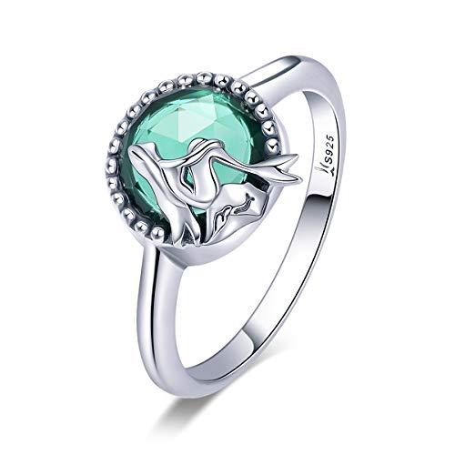 Lily Jewelry Ocean Legend Mermaid Legend 925 Sterling Silver Ring, Size 8