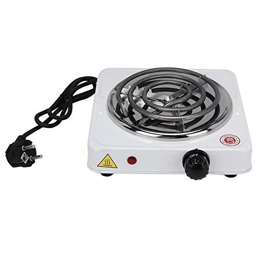 Sola hornilla eléctrica, estufa eléctrica de la cocina, mini estufa eléctrica portátil de la calefacción de la estufa 1000W Hornilla eléctrica de la estufa para el café(Enchufe de la UE 220-240V)