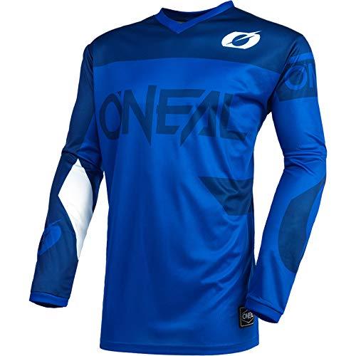 O'Neal   Jersey de Motocicleta   Enduro Motocross   Protección Acolchada para los Codos, Ajuste para una máxima Libertad de Movimiento   Jersey Element Racewear   Adultos   Azul   Talla XL