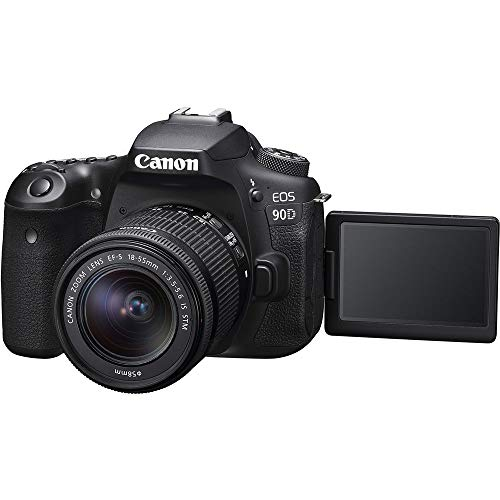 Canon EOS 90D DSLR Camera with 18-55mm Lens, Padded Case, Memory Card, and More - Starter Bundle Set (   International Model)