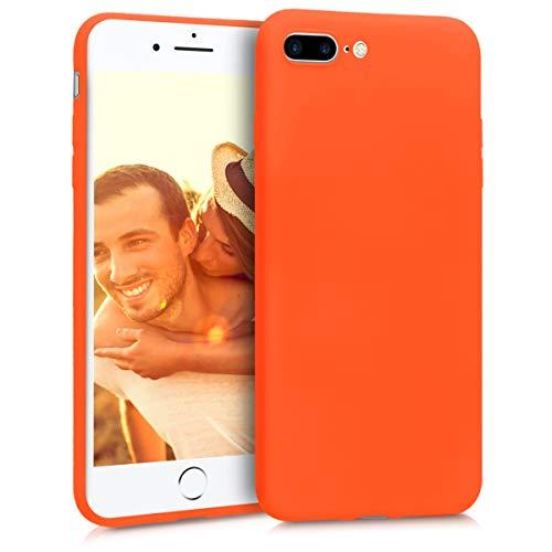 kwmobile Coque Compatible avec Apple iPhone 7 Plus / 8 Plus - Housse de téléphone Protection Souple en Silicone - néon Orange