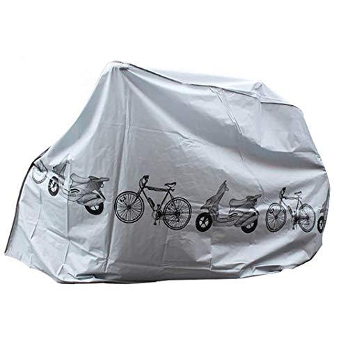 NaisiCore Cubiertas para Bicicletas Polvo Lluvia Protección UV Cubierta Impermeable al Aire Libre de la Bicicleta Cubierta Gris Equipamiento Bicicletas