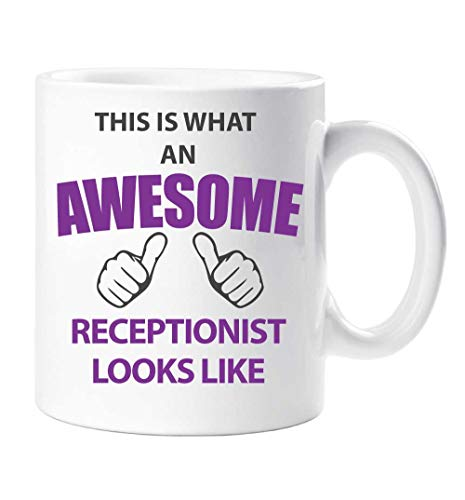 This Is What an Awesome RECEPCIONISTA Looks Like Taza Regalo Taza Cumpleaños Navidad