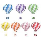 Hangnuo 7 Stück Heißluftballon-Papierlaternen, Lampenschirme zum Aufhängen,...