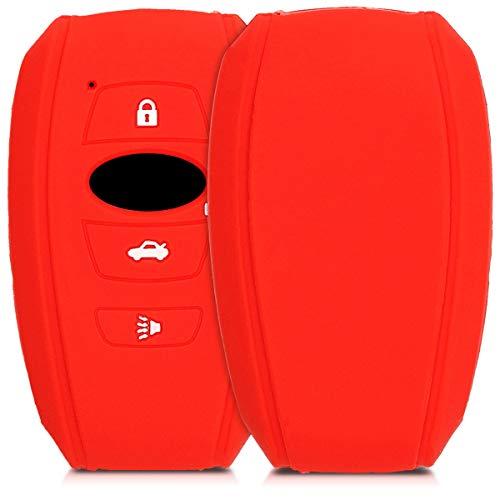 kwmobile Funda de Silicona Compatible con Subaru Llave de Coche Smart Key de 4 Botones - Carcasa Sua
