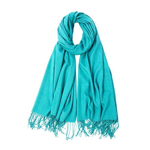Retro Color sólido de la bufanda bufanda del invierno Mujer
