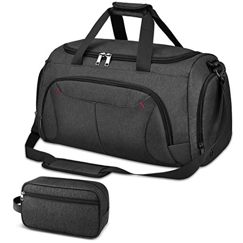 Gym Duffle Bag Waterproof Large Sports Bags Travel Duffel Bags with Shoes Compartment Weekender Bag with Toiletry Organizer Bag