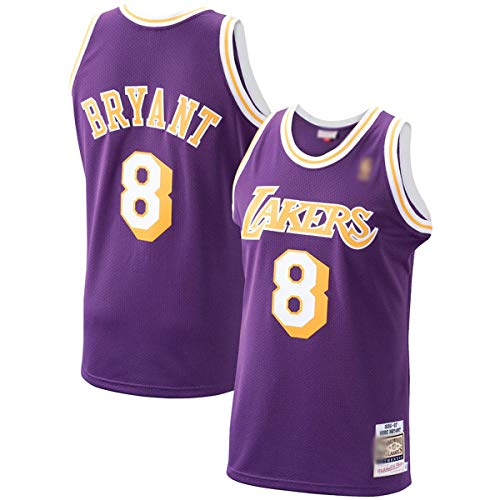 DODE Camisetas de baloncesto al aire libre NO.8 Morado, 1996-97 Hardwood Classics Player Jersey de secado rápido para hombre