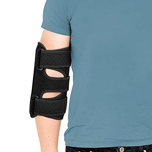 Elbow Brace, Night Elbow Brace for Men and Women, 2 Removable Metal Splints for Tendonitis, Cubital Tunnel Syndrome, Tennis, Elbow Brace for Ulnar Nerve Entrapment