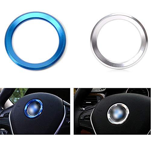 Auto-Klimaanlage schellt Radio-Volumen-Knopf-Ring-Abdeckungen dekorative Kreis-Ordnung-hohe Match- Blau und Silber3er Serie 320gt5 x1x3x4x5x6