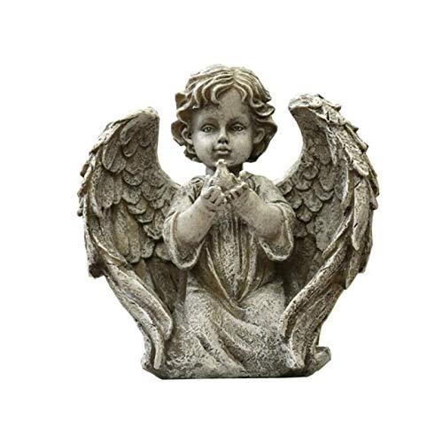 Adornos Colección Figuras Estatuas de ángeles y Figuras al Aire Libre, alas de ángel con un pequeño Ave en Arm Sculptures Ornament, Decoración de jardín Interior (Color : 1)