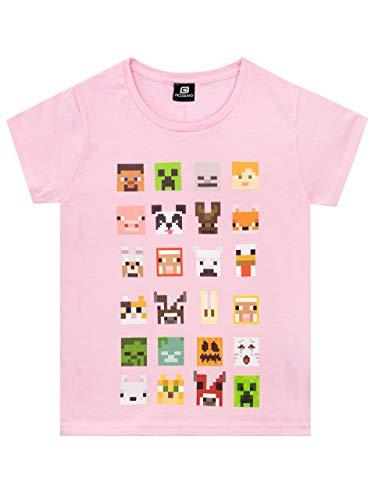 Minecraft T-Shirt mit Minecraft-Print für Mädchen 11-12 jahre Rosa