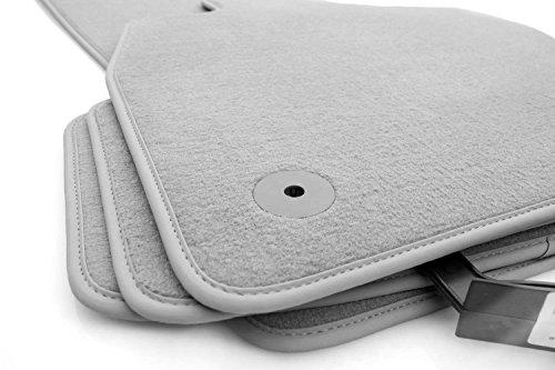 Tapis de sol pour audi a4 b6 b7/s4 original qualité tapis velours 4 pièces gris