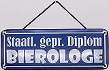 Blechschild mit Kordel 27 x 10 cm Wand/Tür Schild: Staatl.