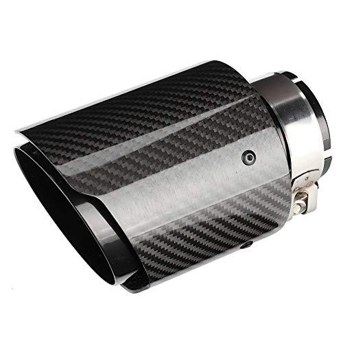 Suuonee Terminale di scarico, modifica auto Universale in fibra di carbonio 63mm ingresso-101mm uscita tubi scarico coda coda gola