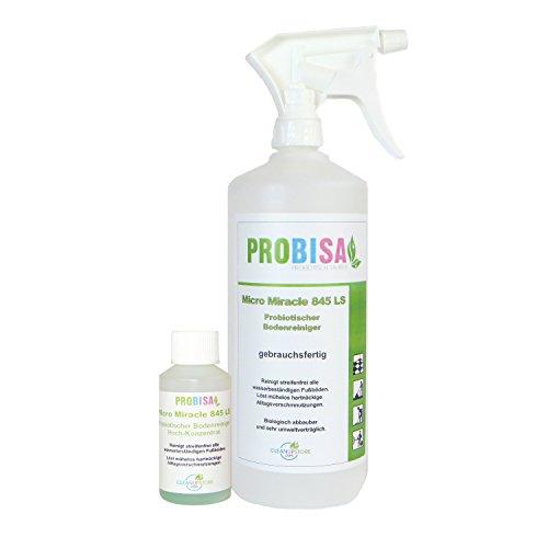 Bio-Bodenreiniger, Teppichreiniger und Polsterreiniger Spray Probisa Micro Miracle LS 845 (50 ml Konzentrat ergeben 1-2 Liter gebrauchsfertigen Fußboden-Reiniger)