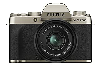 Fujifilm X-T200 Mirrorless Digital Camera w/XC15-45mm F/3.5-5.6 OIS PZ Lens - Champagne Gold (B08438NM1S) | Amazon price tracker / tracking, Amazon price history charts, Amazon price watches, Amazon price drop alerts