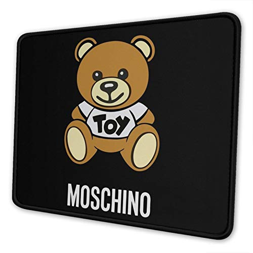 Moschino Toy Bear Non-Slip Mousepad Gaming Computer Mouse Pad Desktop Laptop Mouse Pad with Stitched Edge 10x12 in