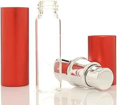 Mini Botella Botellas de Aerosol cosm/ético Embotellado de Viaje Simple y Conveniente Daliuing 8cm * 1.7cm Botella de Metal port/átil Champ/ú de loci/ón Envase cosm/ético Camping