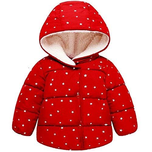YunXiang Herbst Winter Warme Jacke Für Mädchen Weihnachten Mantel Baby Mädchen Jacke Lamm Kaschmir Kinder Kapuzenoberbekleidung Säuglingsmädchen Mantel