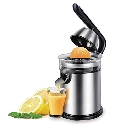 ZHAOZC Orange Juicer Electric Stainless Steel Electric Orange Squeezer,Whole Fruit And Vegetable Easy Clean,Stainless Steel Orange 300W Lemon Electric Set Juicers