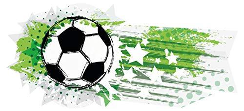 dekodino® Wandtattoo Fußball Sterne grün Jugendzimmer Teenager Junge Deko