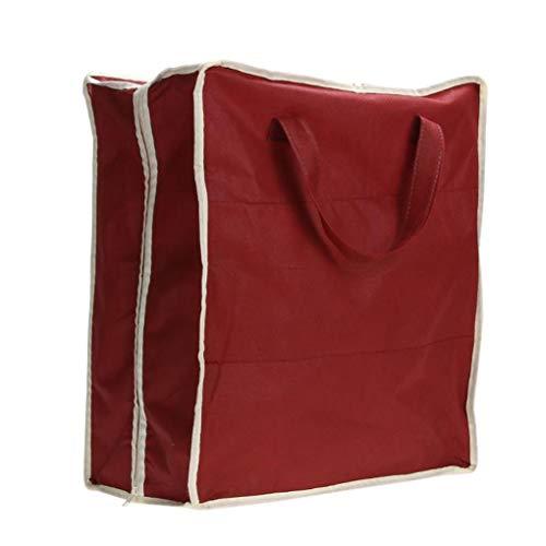 Babysthreath17 La Tela no Tejida Bolsa de Almacenamiento Organizador Zapatos portátil de Viaje de Prendas de Vestir Equipaje Lleva la Bolsa Titular Vino Rojo