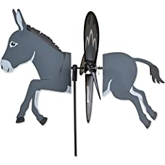"""Donkey 17.75"""" L by 12.75 H with 12.5"""" diameter spinner Made from durable polyester rip-stop."""