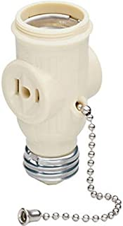 Legrand - Pass & Seymour 1406ICC10 Lamp Holder Medium Outlet Pull Chain Great for Light Duty Applications