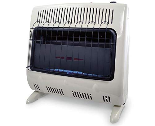 Mr. Heater 30,000 BTU Vent Free Blue Flame Natural Gas Heater with Built-In Blower (1000 Sq. Ft.)