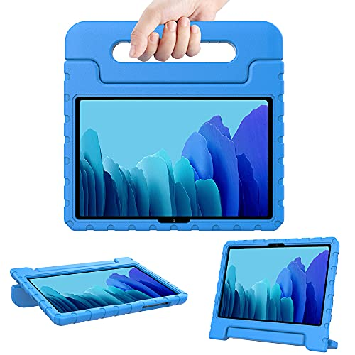 Surom Kids Case for Samsung Galaxy Tab A7 10.4' 2020 (Model SM-T500/T505/T507), Shockproof Lightweight Convertible Handle Stand Protective Kids Case for Tab A7 10.4 Inch 2020 - Blue