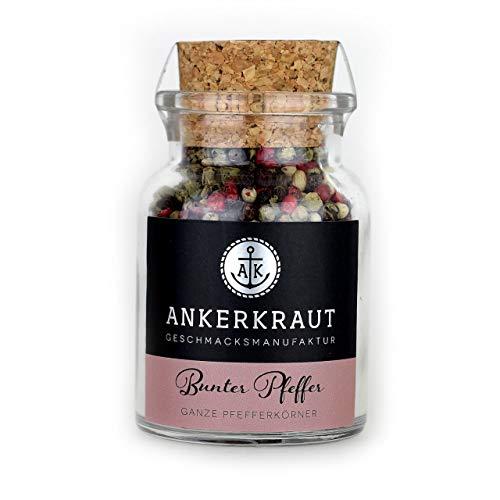 Ankerkraut Bunter Pfeffer, 70g im Korkenglas, feinste ganze Pfefferkörner abgerundet mit roten Beeren, für die Pfeffermühle