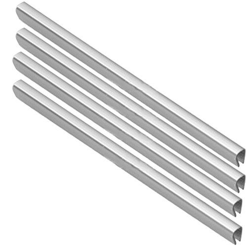 spares2go Untere Schublade Korb Besatz für hotpoint-ariston Kühlschrank Gefrierschrank (Silber, 4Stück)