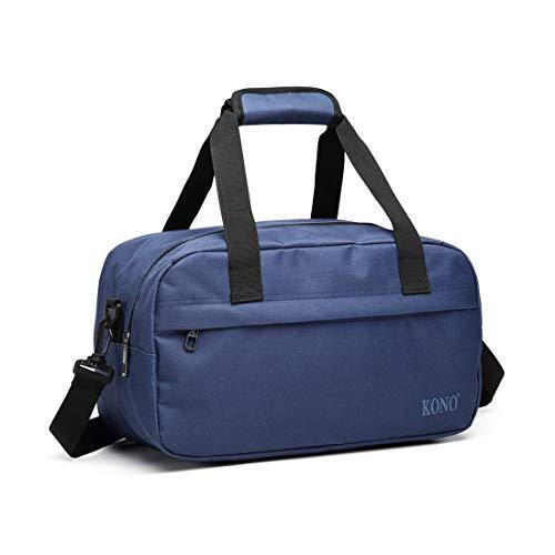 Kono Ryanair Handreisegepäck Handgepäck Reisetasche Sporttasche, 35x20x20, 14L (Marine)