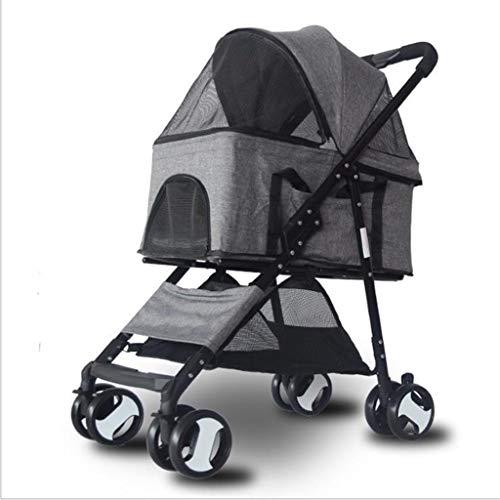 MCSHGPETY opvouwbare kinderwagen voor honden, Grijs