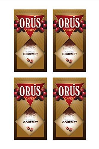 Café molido Gourmet - Pack de 4 estuches (de 250 gramos cada uno) - Cafés Orús.