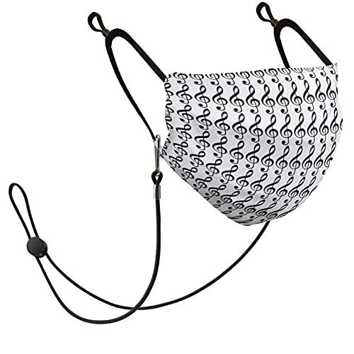Máscara facial unisex lavable reutilizable con bucles ajustables para los oídos, filtro de repuesto y 1 cordón, idea de decoración con patrón de hachas agudos negras